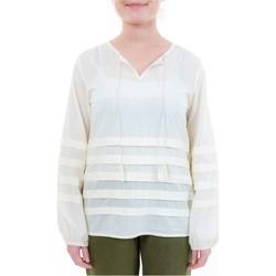 Vêtements Femme Chemises / Chemisiers Fantazia Blouse col tunisien plis et pampilles Blanc / écru