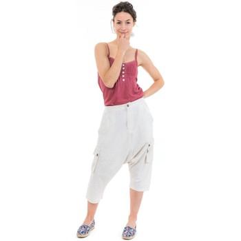 Vêtements Pantacourts Fantazia Sarouel bermuda cargo mixte natural Blanc / écru
