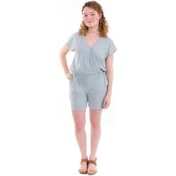Vêtements Femme Combinaisons / Salopettes Fantazia Combishort effet cache coeur jersey gris Gris