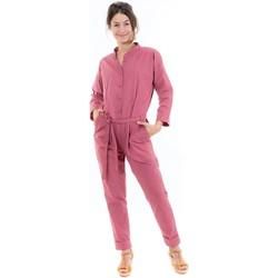 Vêtements Femme Combinaisons / Salopettes Fantazia Combi pantalon saharienne rose brique Rose