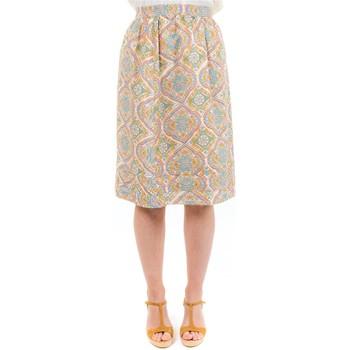 Vêtements Femme Jupes Fantazia Jupe midi retro chic Lillyane Blanc / écru