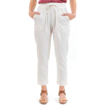 Vêtements Pantalons Fantazia Pantalon carotte casual naturel Bhanilako Blanc / écru