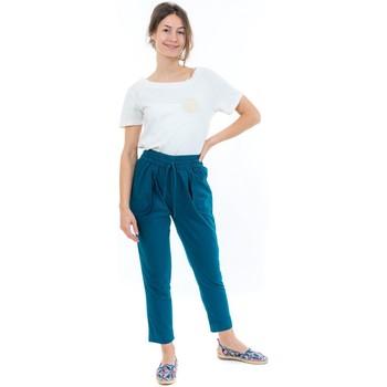 Vêtements Pantalons Fantazia Pantalon carotte bleu petrole Nebalah Bleu