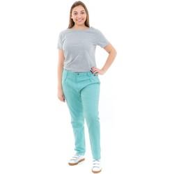 Vêtements Femme Pantalons Fantazia Pantalon carotte broderies femme Fresh Bleu