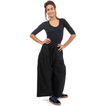 Vêtements Femme Pantalons Fantazia Pantalon femme jambe large noir Masii Noir