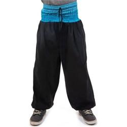 Vêtements Enfant Pantalons fluides / Sarouels Fantazia Pantalon sarouel enfant sari bleu Noir