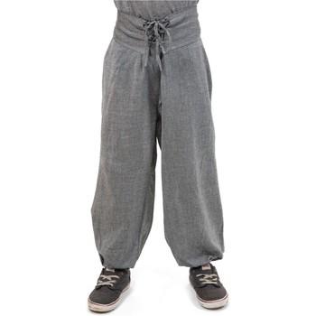 Vêtements Fille Pantalons fluides / Sarouels Fantazia Pantalon bouffant enfant ceinture corset Alba Gris