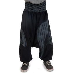 Vêtements Enfant Calvin Klein Jeans Fantazia Sarouel enfant ceinture elastique confort Noir