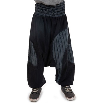 Vêtements Fille Pantalons fluides / Sarouels Fantazia Sarouel enfant ceinture elastique confort Noir