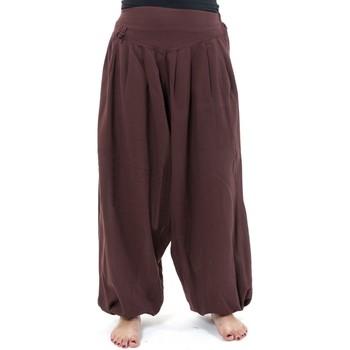 Vêtements Femme Pantalons fluides / Sarouels Fantazia Pantalon sarouel noat coton nepalais aladin sarwel Noir