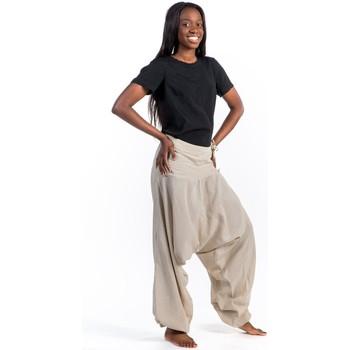Vêtements Pantalons fluides / Sarouels Fantazia Pantalon sarouel bali coton nepalais aladin sarwel Marron chocolat