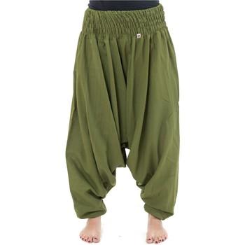 Vêtements Homme Pantalons fluides / Sarouels Fantazia Pantalon sarouel elastique uni aladin sarwel indien Kaki clair