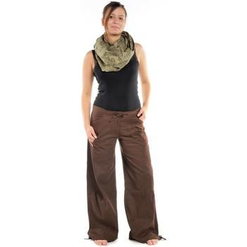 Vêtements Pantalons cargo Fantazia Pantalon hybride marron uni Marron