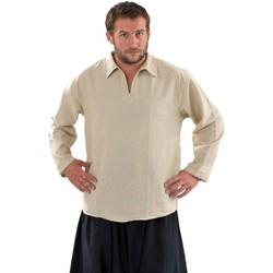 Vêtements Homme Chemises manches longues Fantazia Chemise col relax chanvre Blanc / écru