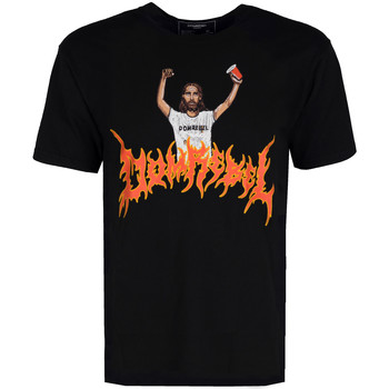 Vêtements Homme T-shirts manches courtes Domrebel  Noir