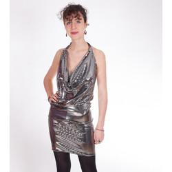 Vêtements Femme Robes courtes Yours-Paris LOLA ARGENT
