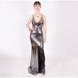 Vêtements Femme Robes longues Yours-Paris LUCIE ARGENT