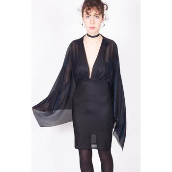 Vêtements Femme Robes courtes Yours-Paris ROMY NOIR-BLEU