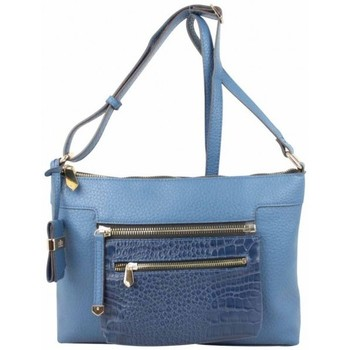Sacs Femme Sacs Bandoulière Elite Sac bandoulière  E6194 poche effet croco Bleu bleu