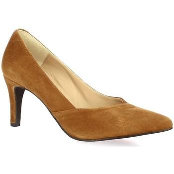 Chaussures Femme Escarpins So Send Escarpins cuir velours Cognac