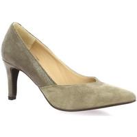 Chaussures Femme Escarpins So Send Escarpins velours lamine Taupe
