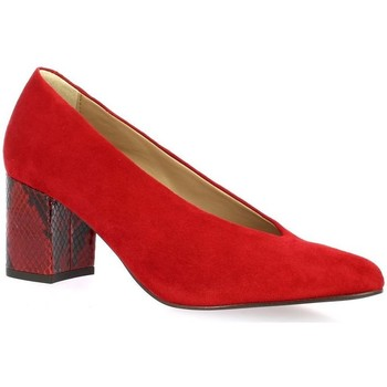 Chaussures Femme Escarpins So Send Escarpins cuir velours rouge