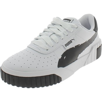 Chaussures Fille Baskets basses Puma CALI BRUSHED BIANCHE Blanc