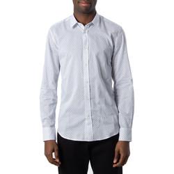 Vêtements Homme Chemises manches longues Antony Morato MMSL00587-FA430420 Blanc
