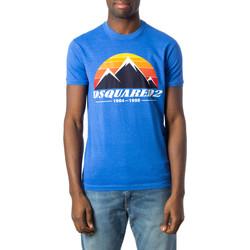 Vêtements Homme T-shirts manches courtes Dsquared S74GD0291 Bleu