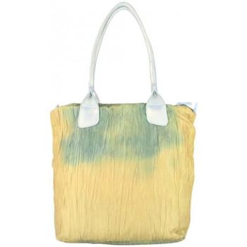Sacs Femme Cabas / Sacs shopping A Découvrir ! Sac cabas toile légère effet froissée 602805 Vert Multicolor
