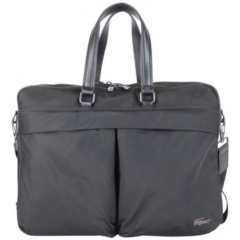 Sacs Porte-Documents / Serviettes Lacoste Porte documents  NHPT Computeur Bag 2s Toile nylon Noir