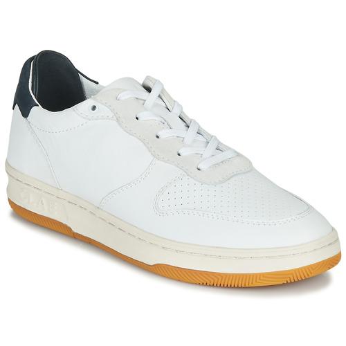 Chaussures Baskets basses Claé MALONE Blanc / Bleu