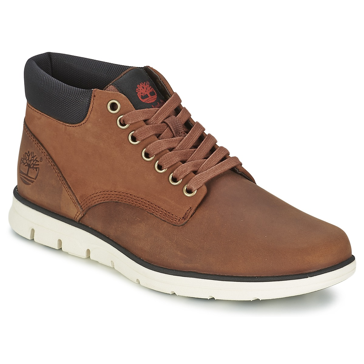 Basket montante Timberland BRADSTREET CHUKKA LEATHER Red Marron FG