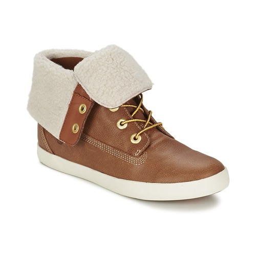 Bottines / Boots Timberland GLASTENBURY FLEECE FOLD DOWN Tan 350x350