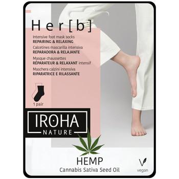 Beauté Femme Soins mains et pieds Iroha Nature Cannabis Foot Mask Socks Repairing & Relaxing 1 pair