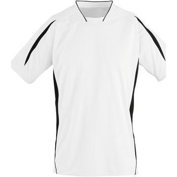 Vêtements Enfant T-shirts manches courtes Sols 01639 Blanc/Noir