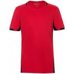 Vêtements Enfant T-shirts manches courtes Sols 01719 Rouge/Noir