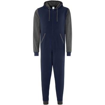 Vêtements Pyjamas / Chemises de nuit Comfy Co CC003 Bleu marine/Gris foncé
