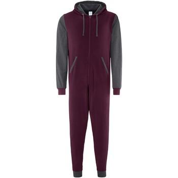 Vêtements Combinaisons / Salopettes Comfy Co CC003 Bordeaux/Gris foncé