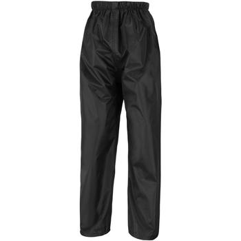 Vêtements Enfant Pantalons de survêtement Result R226J Noir