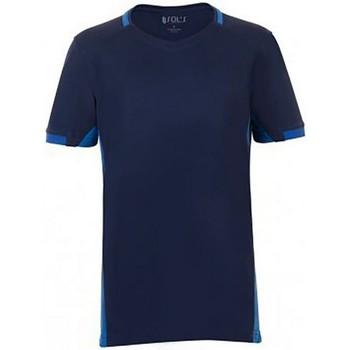 Vêtements Enfant T-shirts manches courtes Sols 01719 Bleu marine/Bleu roi