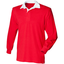 Vêtements Enfant Polos manches longues Front Row  Rouge