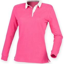 Vêtements Femme Polos manches longues Front Row FR105 Rose vif