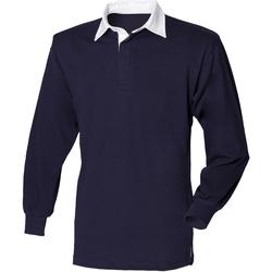 Vêtements Enfant Polos manches longues Front Row  Bleu marine