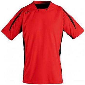 Vêtements Enfant T-shirts manches courtes Sols 01639 Rouge/Noir