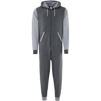 Vêtements Combinaisons / Salopettes Comfy Co CC003 Gris foncé/Gris chiné