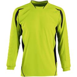 Vêtements Enfant T-shirts manches longues Sols 90209 Vert pomme/Noir