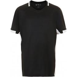 Vêtements Enfant T-shirts manches courtes Sols 01719 Noir/Blanc