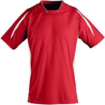 Vêtements Enfant T-shirts manches courtes Sols 01639 Rouge/Blanc
