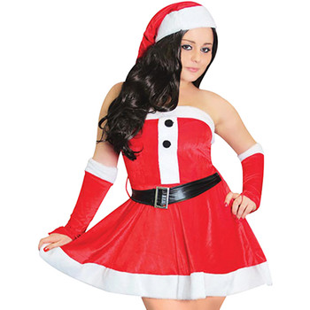 Vêtements Femme Robes courtes Christmas Shop CS006 Rouge